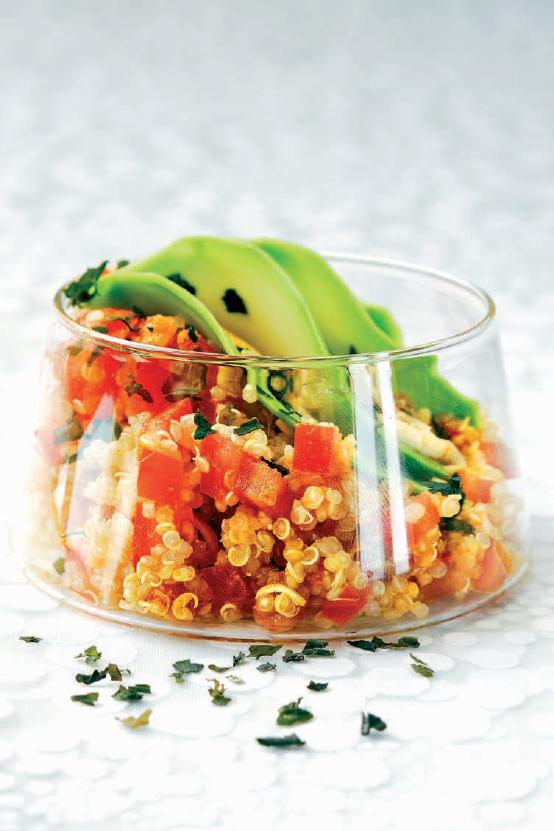 Salade de quinoa aux paillettes d'algues du livre « Curcuma en cuisine » de Garance Leureux