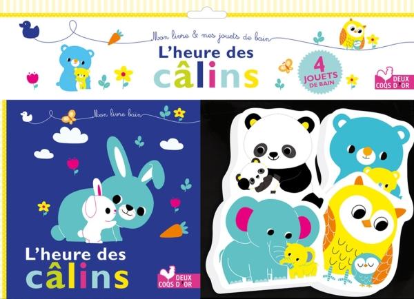 L'heure des câlins - un livre bain avec des jouets de bain