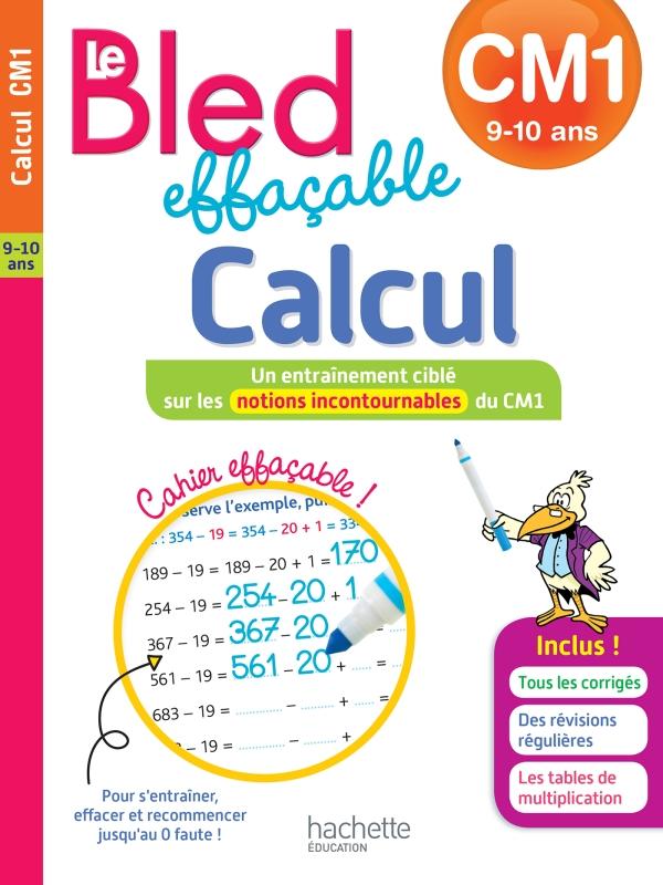 Bled effaçable Calcul CM1