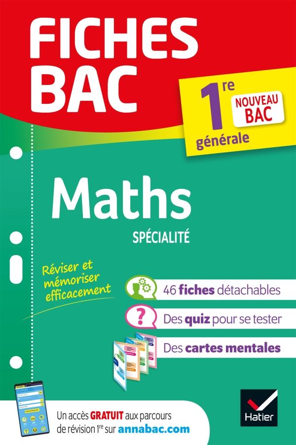 Fiches bac Maths 1re générale (spécialité)