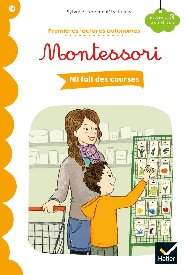 Premières lectures autonomes Montessori Niveau 3 - Nil fait des courses