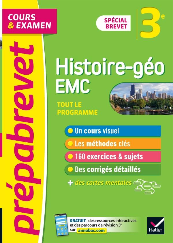 Prépabrevet Histoire-Géographie EMC 3e Brevet 2022