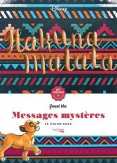 Grand bloc Art-thérapie Messages mystères Disney Hakuna Matata
