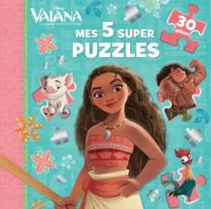 VAIANA - Mes 5 Super Puzzles - 5 puzzles 30 pièces - Disney