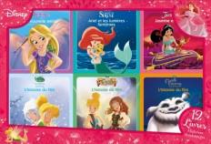 DISNEY PRINCESSES - Coffret 12 livres - 6 Histoires + 6 Coloriages