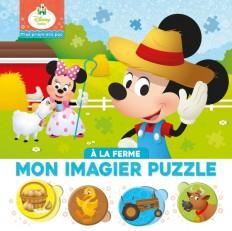 DISNEY BABY - Mes Premiers Pas - Mon Imagier Puzzle - À la ferme