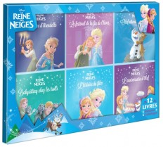 LA REINE DES NEIGES - Coffret 12 Livres - 6 Histoires + 6 Coloriages - Disney