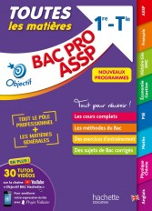 Objectif BAC PRO ASSP (1re et Term) -  Toutes les matières - Nouveaux programmes BAC 2022