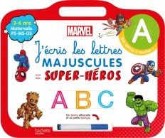 Disney - Mes super-héros Marvel - Ardoise J'écris les lettres majuscules  (3-6 ans)