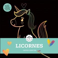 Cartes à gratter Art-thérapie Licornes