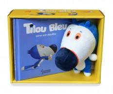 Tilou bleu aime son doudou - Coffret peluche