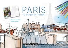 Paris carnet coloriages cartes postales