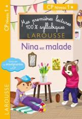 Premières lectures syllabiques - Nina est malade (Niveau 1)