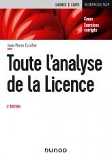 Toute l'analyse de la Licence - 2e éd.- Cours et exercices corrigés