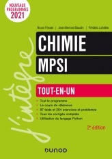Chimie tout-en-un MPSI - 2e éd.