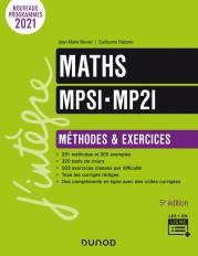 Maths MPSI-MP2I - Méthodes et Exercices - 5e éd.