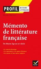 Profil - Mémento de la littérature française