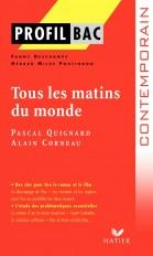 Profil - Quignard (Pascal) : Tous les matins du monde