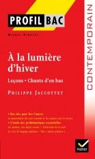 Profil - Jacottet (Philippe) : À la lumière d'hiver