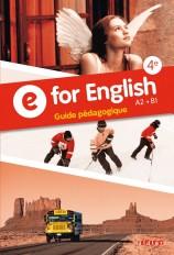 E for English 4e - Guide pédagogique - version papier
