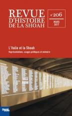 Revue d'Histoire de la Shoah n° 206 - ITALIE ET LA SHOAH