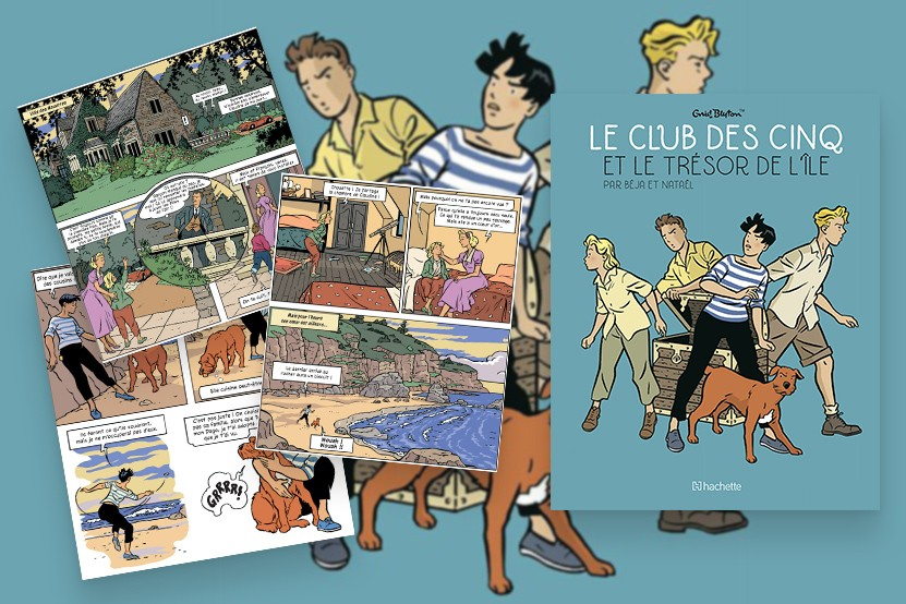 Le Club des Cinq : leurs aventures disponibles en bande dessinée petit format et en version numérique