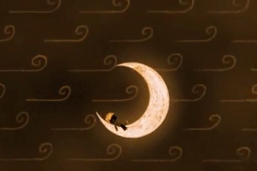Le garçon qui aimait la lune, par Rino Alaimo