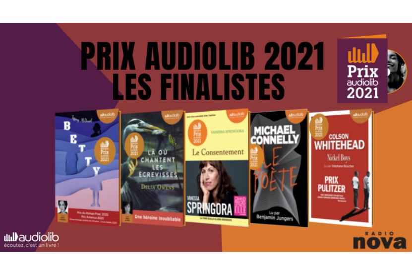 Prix Audiolib 2021 : votez parmi les 5 finalistes