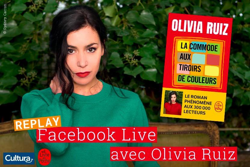 Replay : retrouvez le Facebook Live d'Olivia Ruiz