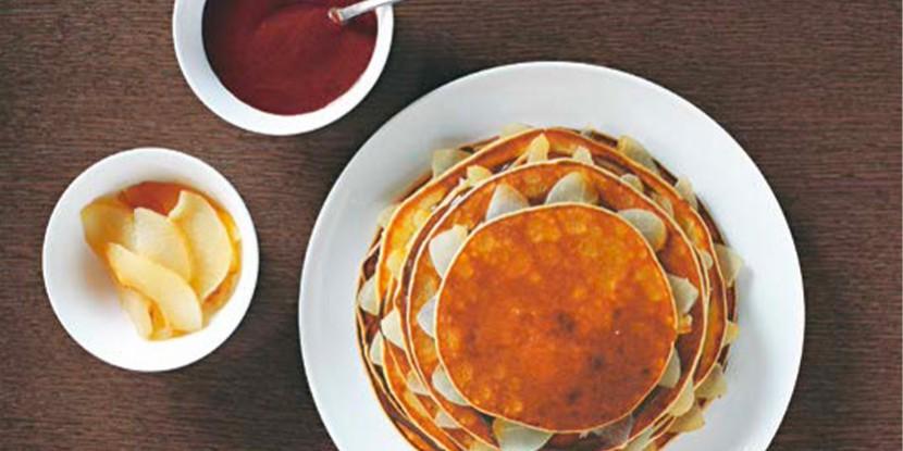 Chandeleur : notre recette de gâteau de crêpes poire chocolat